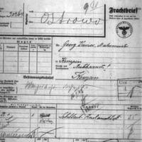 Materiały dot. akcji wysiedlenczej w czasie okupacji niemieckiej. Listy osób przesiedlonych na teren powiatu Ostów. raporty, instrukcje, listy przewozowe
