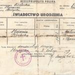 14. Świadectwo urodzenia Stefanii Wachowicz (Copy).jpg